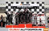 SPX-Podium in Dubai - Sieger: Franck Pelle, Rory Penttinen, Vic Rice & Pierre Ehret (v.l.n.r.) - Foto: Creventic